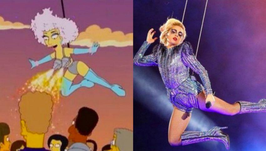 I Simpson avevano previsto lo show di Lady Gaga al Super Bowl