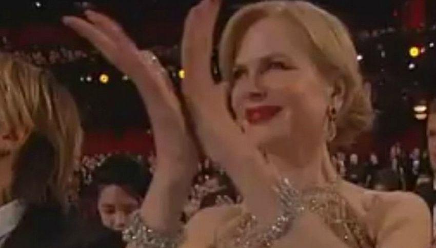 Nicole Kidman agli Oscar e quello strano modo di applaudire