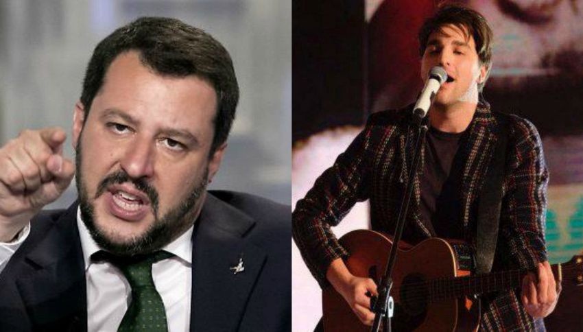 """Sanremo, Salvini contro Braschi: """"I migranti accoglili a casa tu"""""""