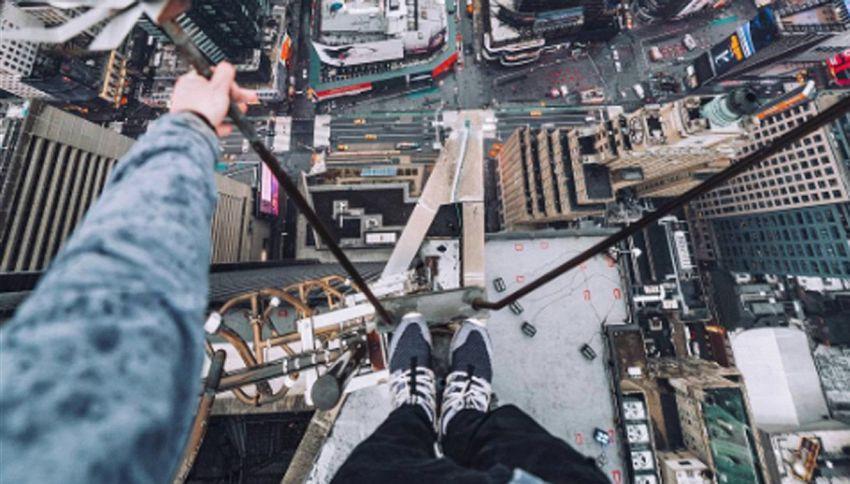 Fotografo sul tetto della Trump Tower. Il risultato è incredibile