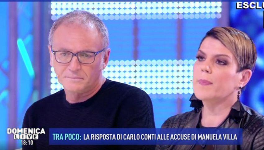 """Manuela Villa a Domenica Live attacca Conti: """"Sono indignata"""""""