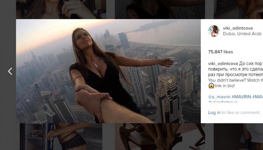 Foto da brividi: modella rischia la vita per uno scatto