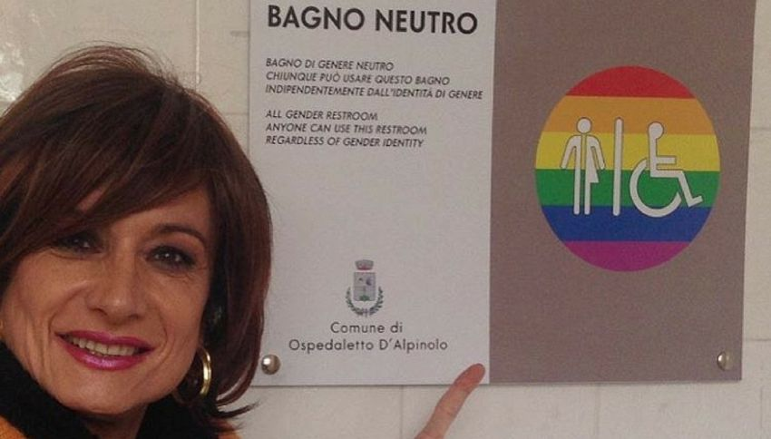 Inaugurata la prima toilette no gender a Ospedaletto (AV)