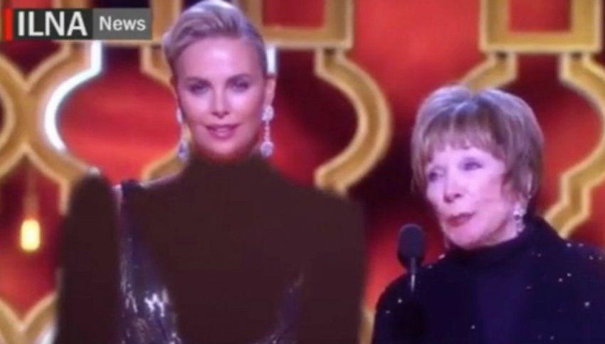 Theron troppo scollata agli Oscar: in Iran la trasmettono così