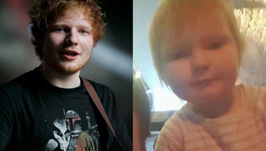 Questa bimba di due anni è identica ad Ed Sheeran