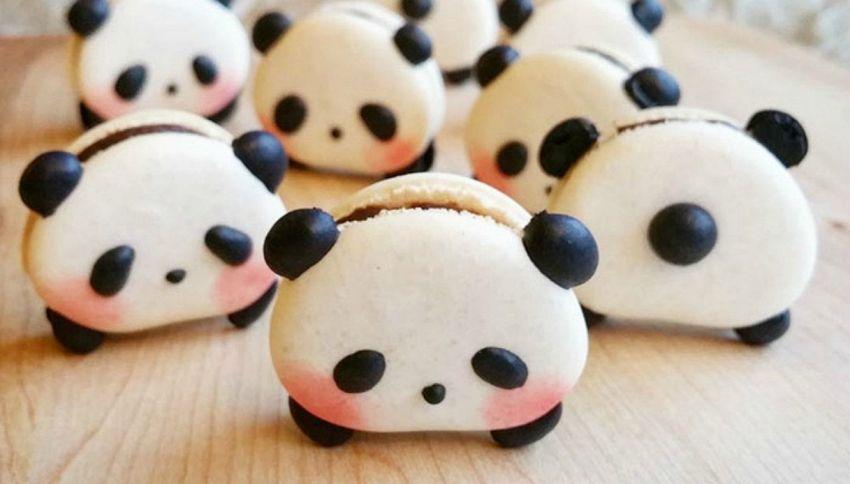 I macarons a forma di panda sono la nuova tendenza