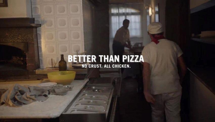 Meglio della pizza? Il geniale spot della Chizza di KFC