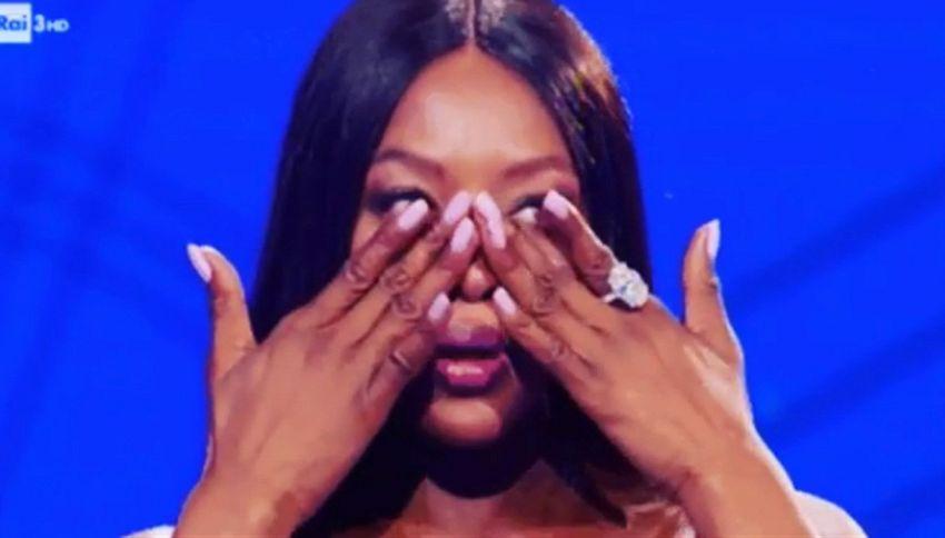 Naomi Campbell scoppia a piangere da Fazio. Ecco perché