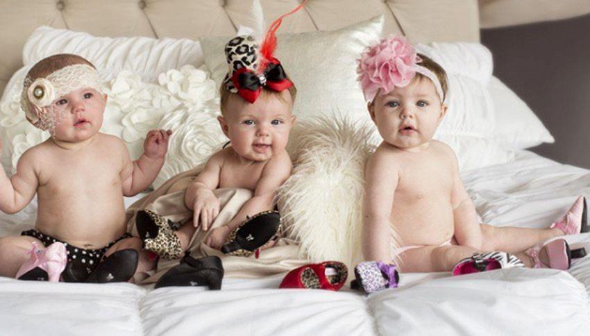 La moda innanzitutto? Le scarpine con tacchi alti per neonati