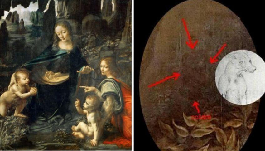 Scoperto un cane dietro la Vergine delle Rocce di Leonardo