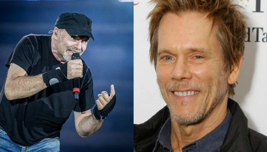 Vasco Rossi in studio a Los Angeles con Kevin Bacon