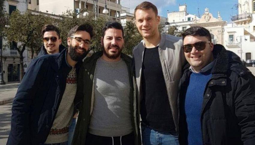 Nozze in Puglia per il portiere della Germania, Manuel Neuer