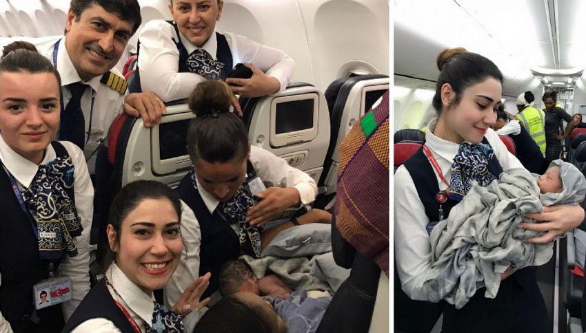Donna partorisce in volo grazie all'aiuto delle hostess