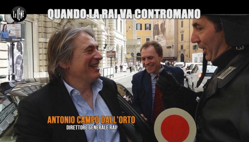 """Dirigenti Rai contromano a Roma: il nuovo servizio de """"Le Iene"""""""