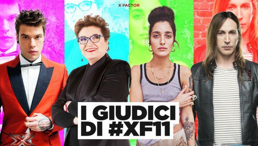 X Factor 11: Maionchi, Fedez, Agnelli e Levante nuovi giudici