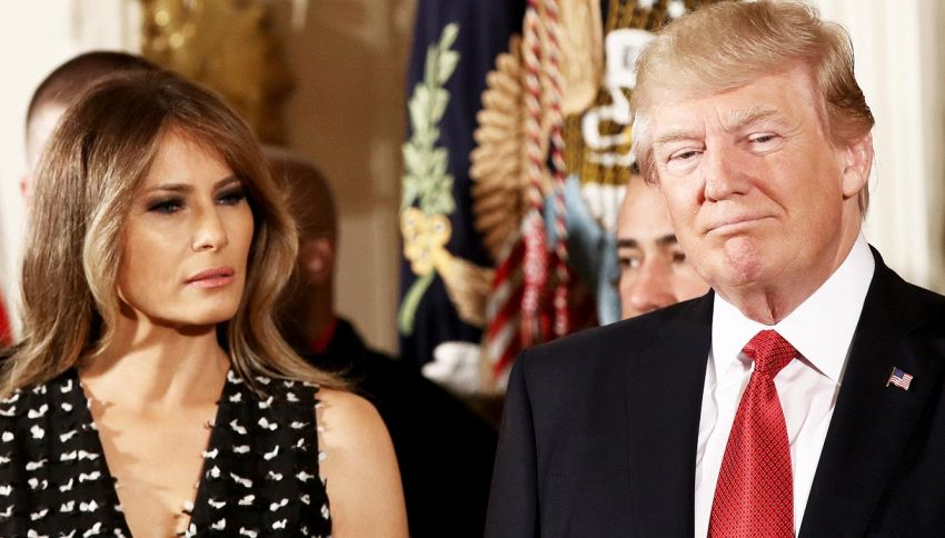 Melania Trump in crisi con Donald? È giallo