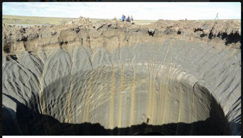 7000 bolle di metano in Siberia rischiano l'esplosione
