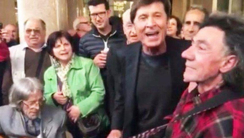 Morandi, concertino a sorpresa sotto i portici