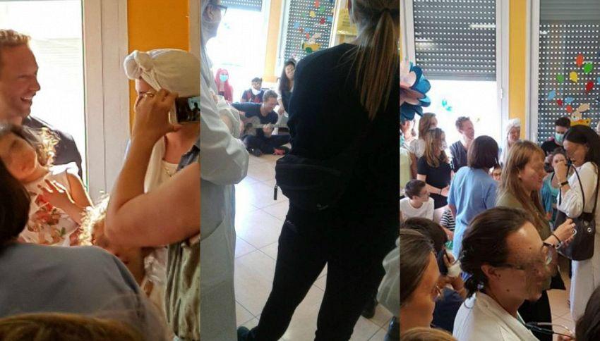 Coldplay a Milano: Chris Martin canta per i bimbi dell'ospedale