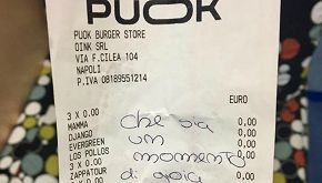 Bimbi malati di cancro ordinano la cena, la paninoteca la regala