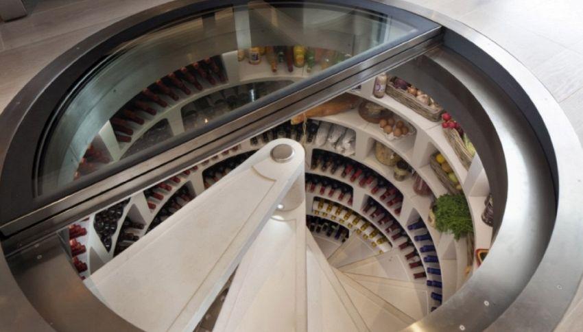 Cantina a spirale: un modo innovativo per conservare il vino