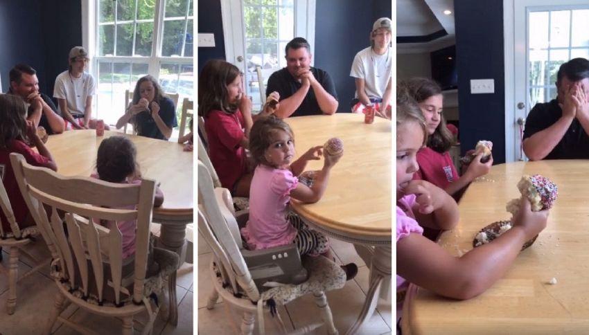 La moglie è incinta della quinta femmina: il papà reagisce così