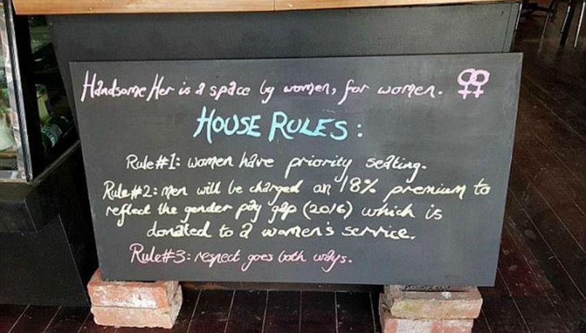 In Australia il bar delle donne: gli uomini pagano di più