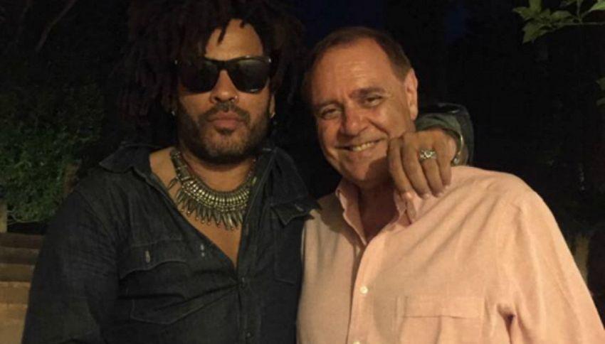 Lenny Kravitz e Mastella sono la nuova strana coppia star del web