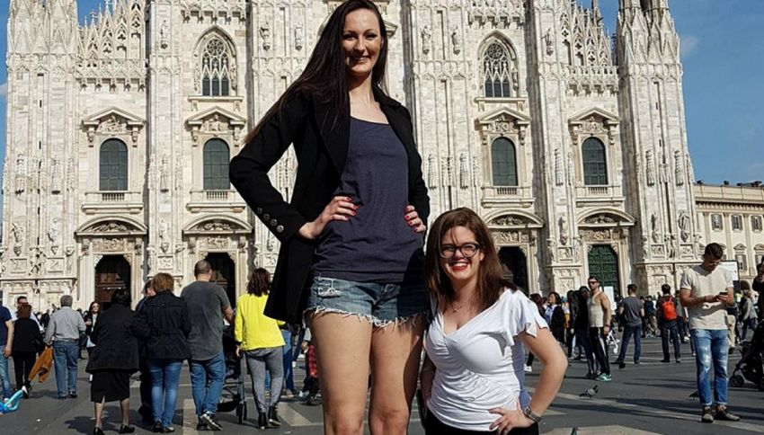 Ekaterina, la modella russa con le gambe più lunghe del mondo
