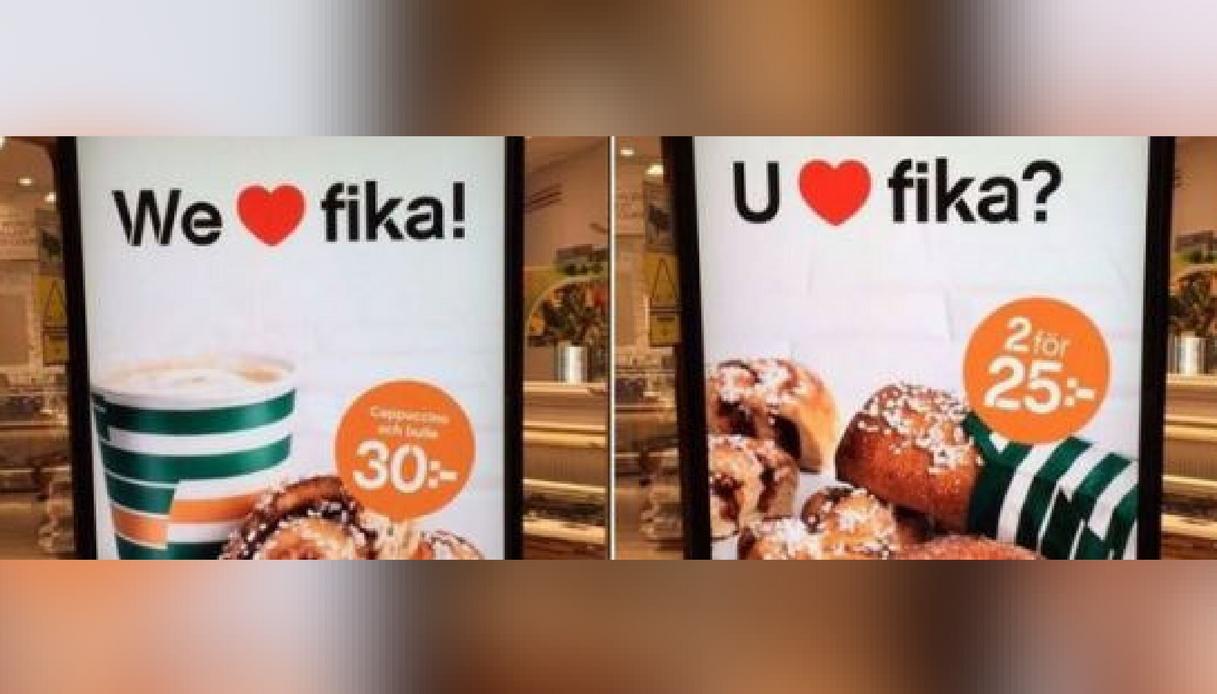 """""""We love fika"""": la pubblicità svedese scatena la Rete"""