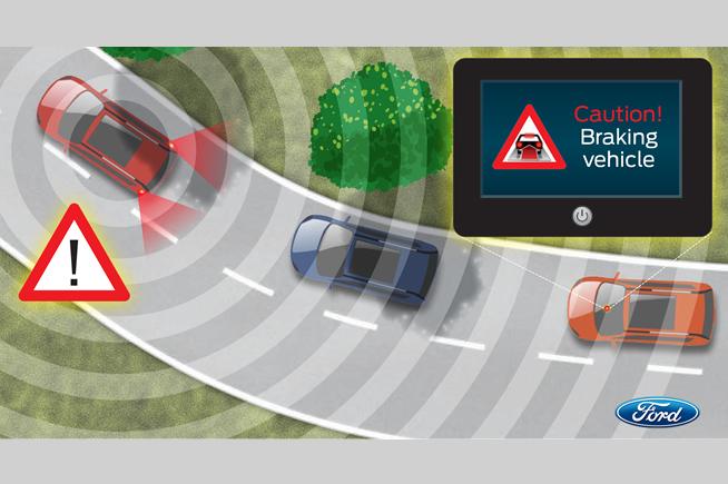 Il conducente riceve tempestivamente informazioni su eventuali incidenti sul percorso fino a una distanza di 500 metri
