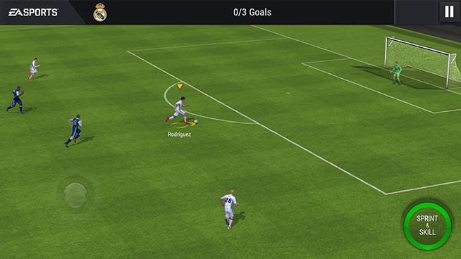 Una schermata di Fifa Mobile