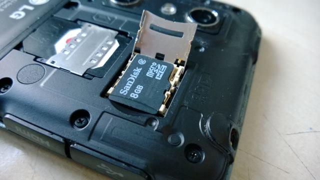 inserire microsd smartphone