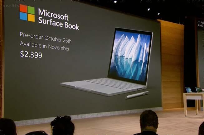 Prezzo del Surface Book i7