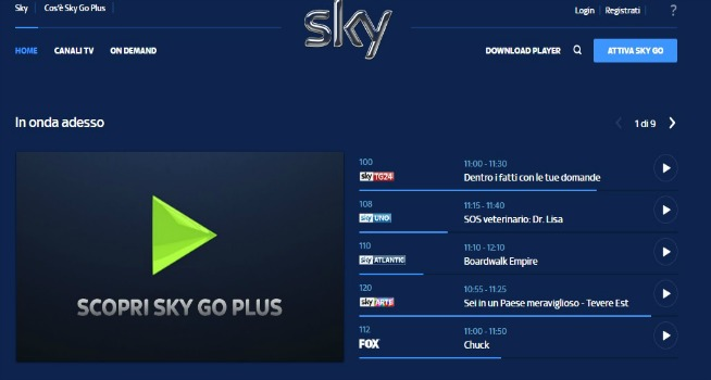 Sky go plus cosa è