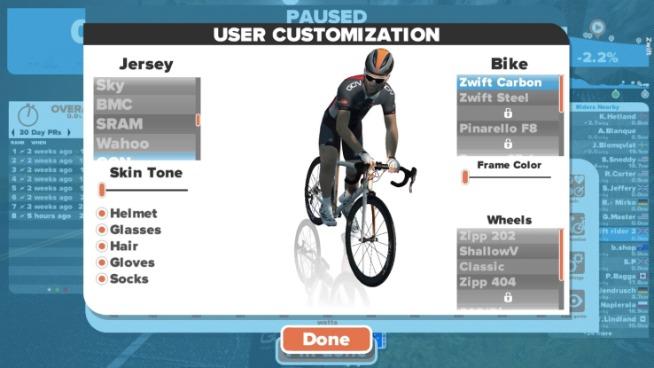 Come personalizzare Zwift