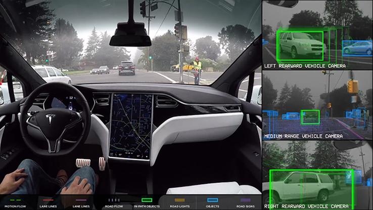 Come funziona l 39 auto che si guida da sola di tesla video for L auto che si guida da sola