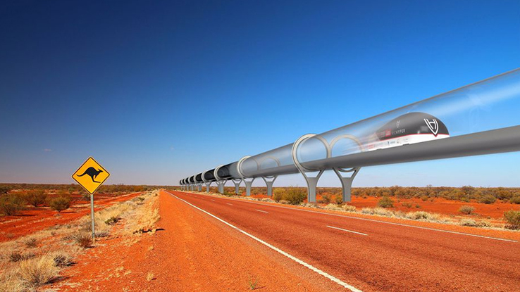 Il treno supersonico Hyperloop arriva in Australia. Foto e video