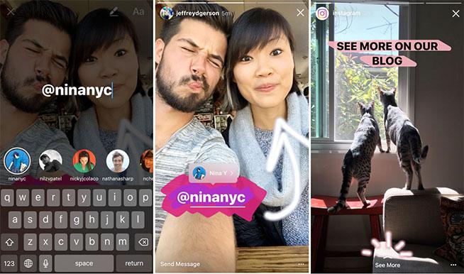 Ecco come funzionano le menzioni sulle storie di Instagram