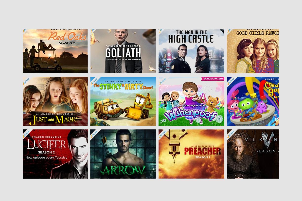 Alcune delle serie in esclusiva per gli utenti di Amazon Prime Video