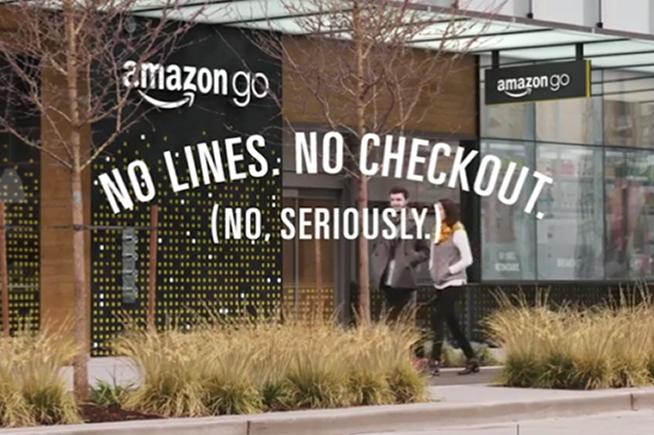 Il negozio di Amazon aperto a Seattle, tra la Settima Avenue e Blanchard Street.