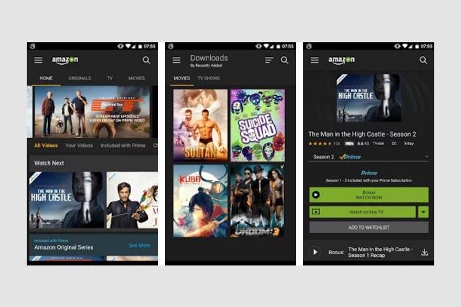 L'applicazione di Amazon Prime Video