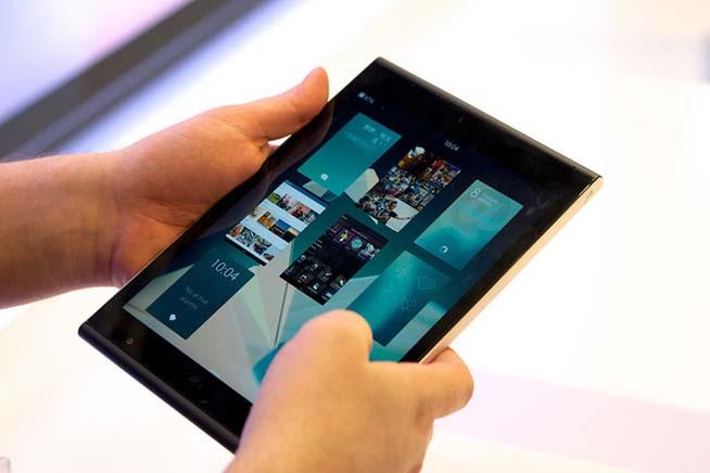 Un tablet con Jolla Sailfish