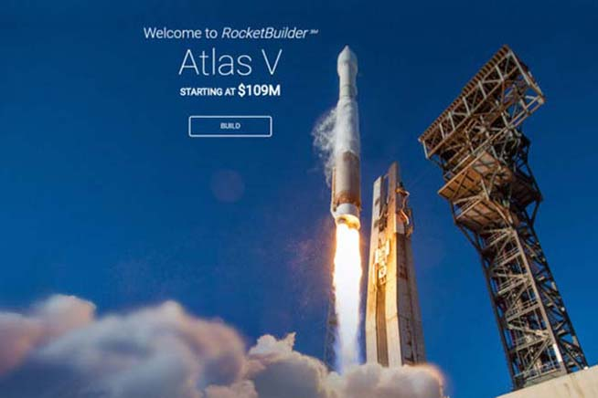 Homepage di Rocket Builder