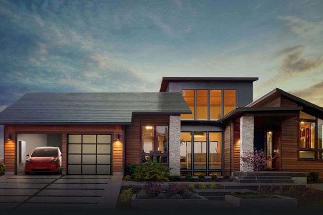 Anche Tesla è impegnata nel settore delle rinnovabili. Premi sull'immagine per scoprire come sono fatte le tegole solari