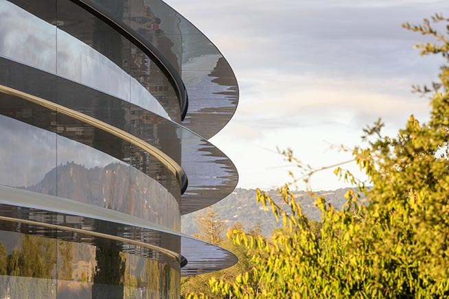 Un'immagine dell'Apple Park