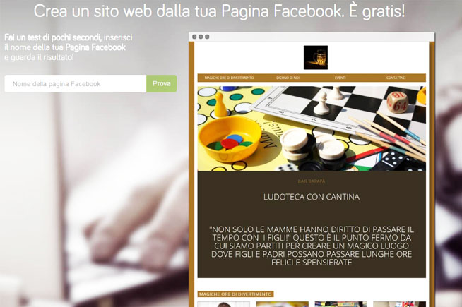 Homepage di Libero Pages