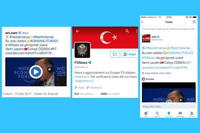 Ecco alcune immagini degli account hackerati
