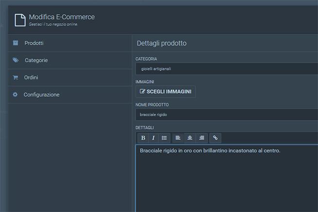 Come creare una scheda prodotto con Libero Pages Modulo E-Commerce