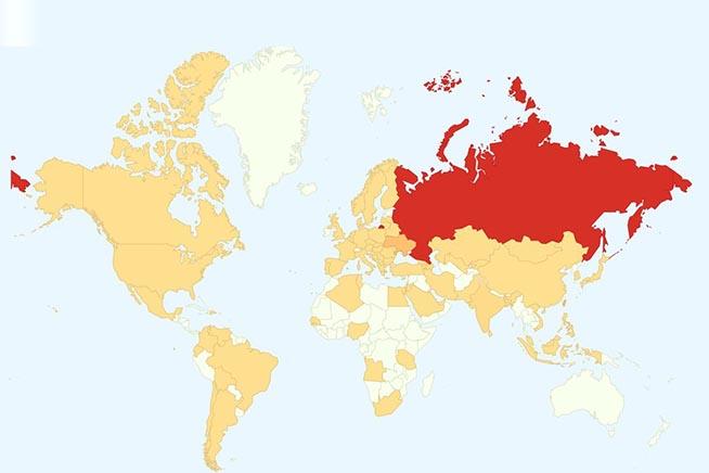 La mappa delle infezioni